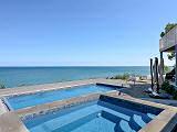 lake michigan overlooking the pool