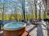 hot tub on deck overlooking Galien River